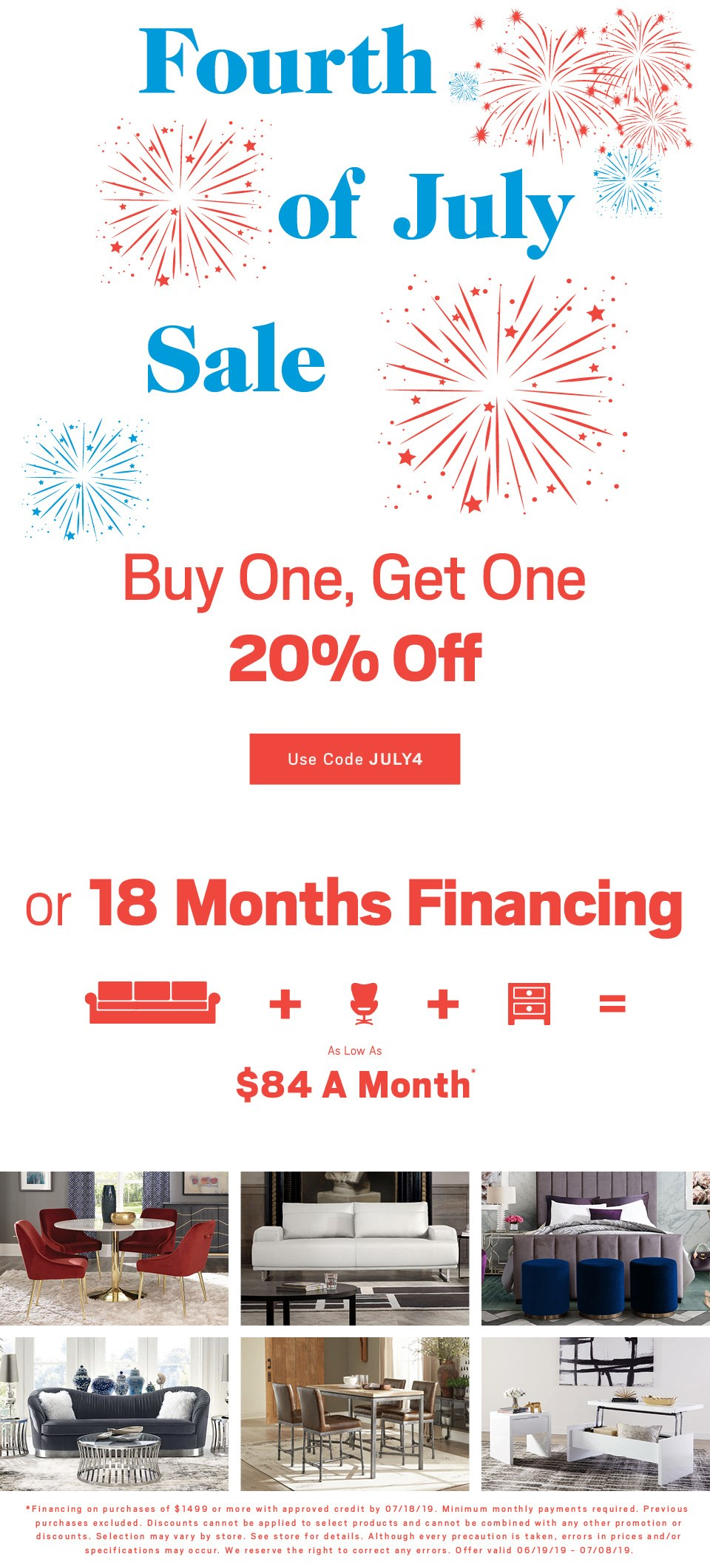One Get 20 Off Or Ask About 18 Months Financing Use Code