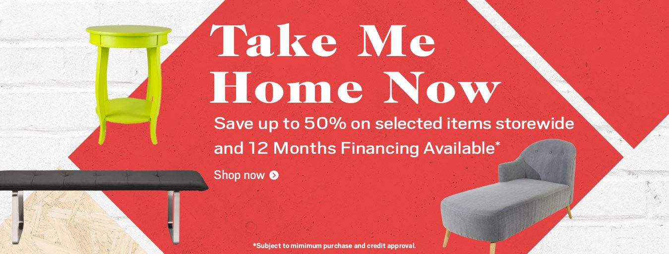Take me home now sale; special financing available. See store for details.