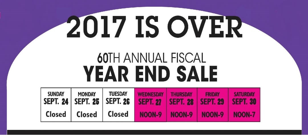 Fiscal Year End Sale