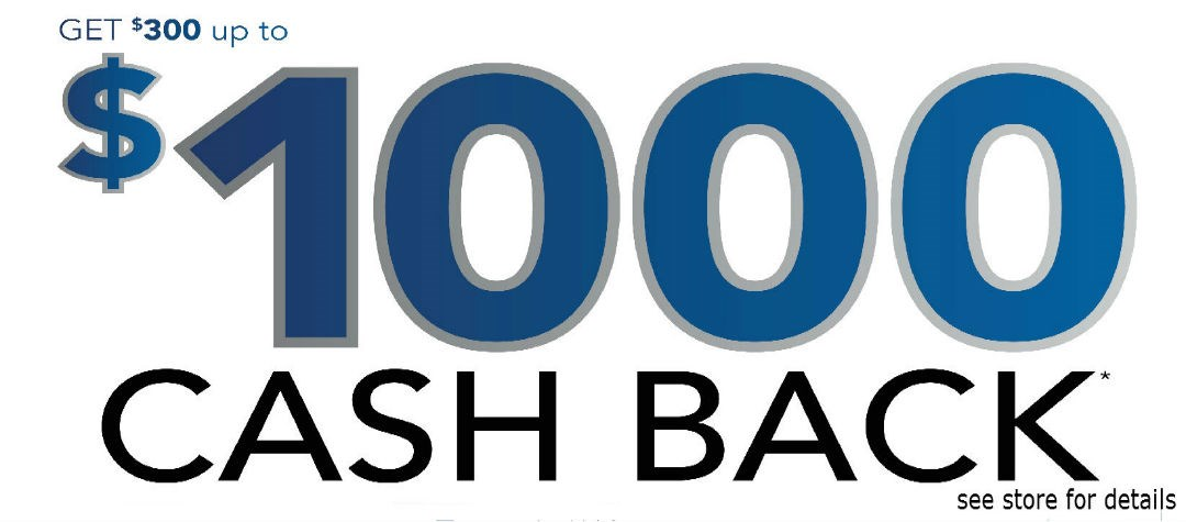 Get $300 up to $1000 Cash Back