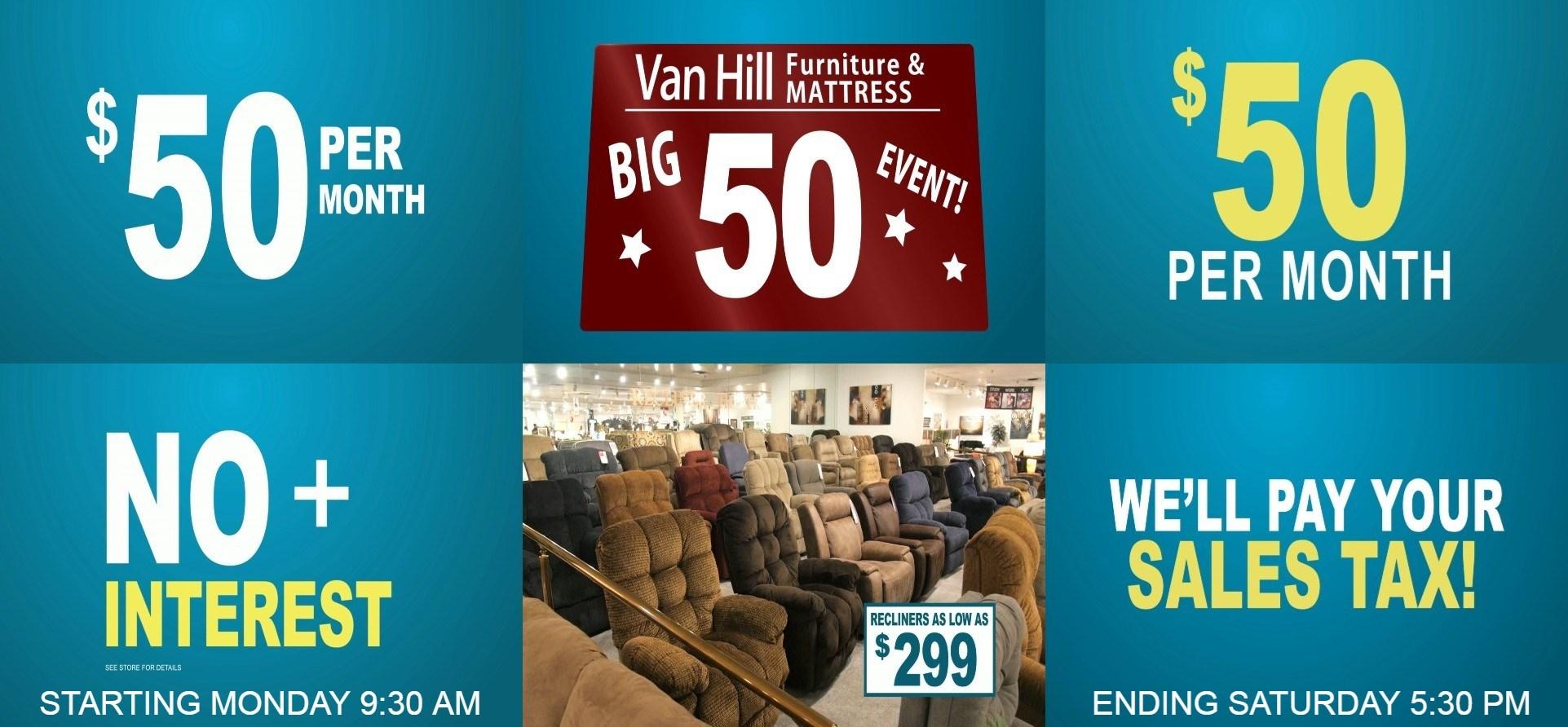 Big $50 Sales Event