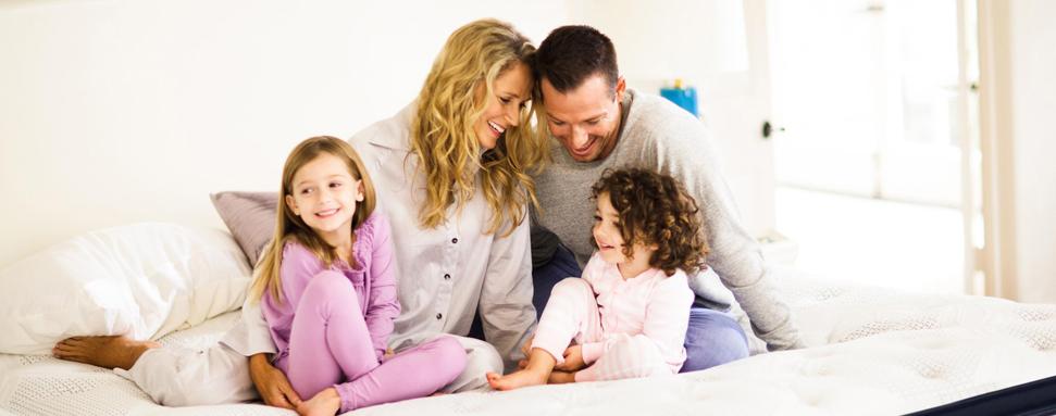 Family on Mattress