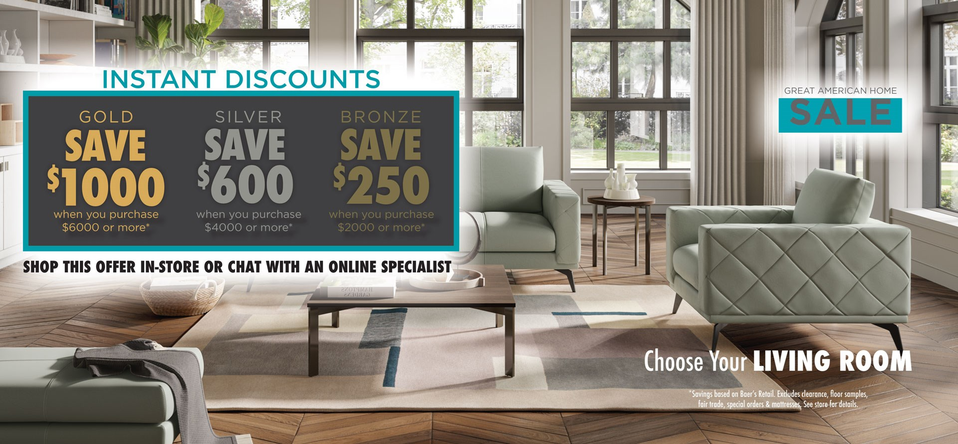 Great American Home Sale - Living Room