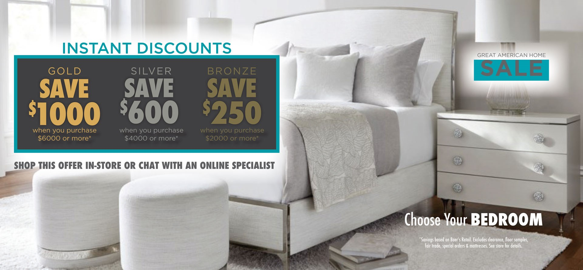Great American Home Sale - Bedroom