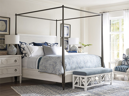Tommy Bahama Home Ocean Breeze Coral Gables Poster Bed Queen