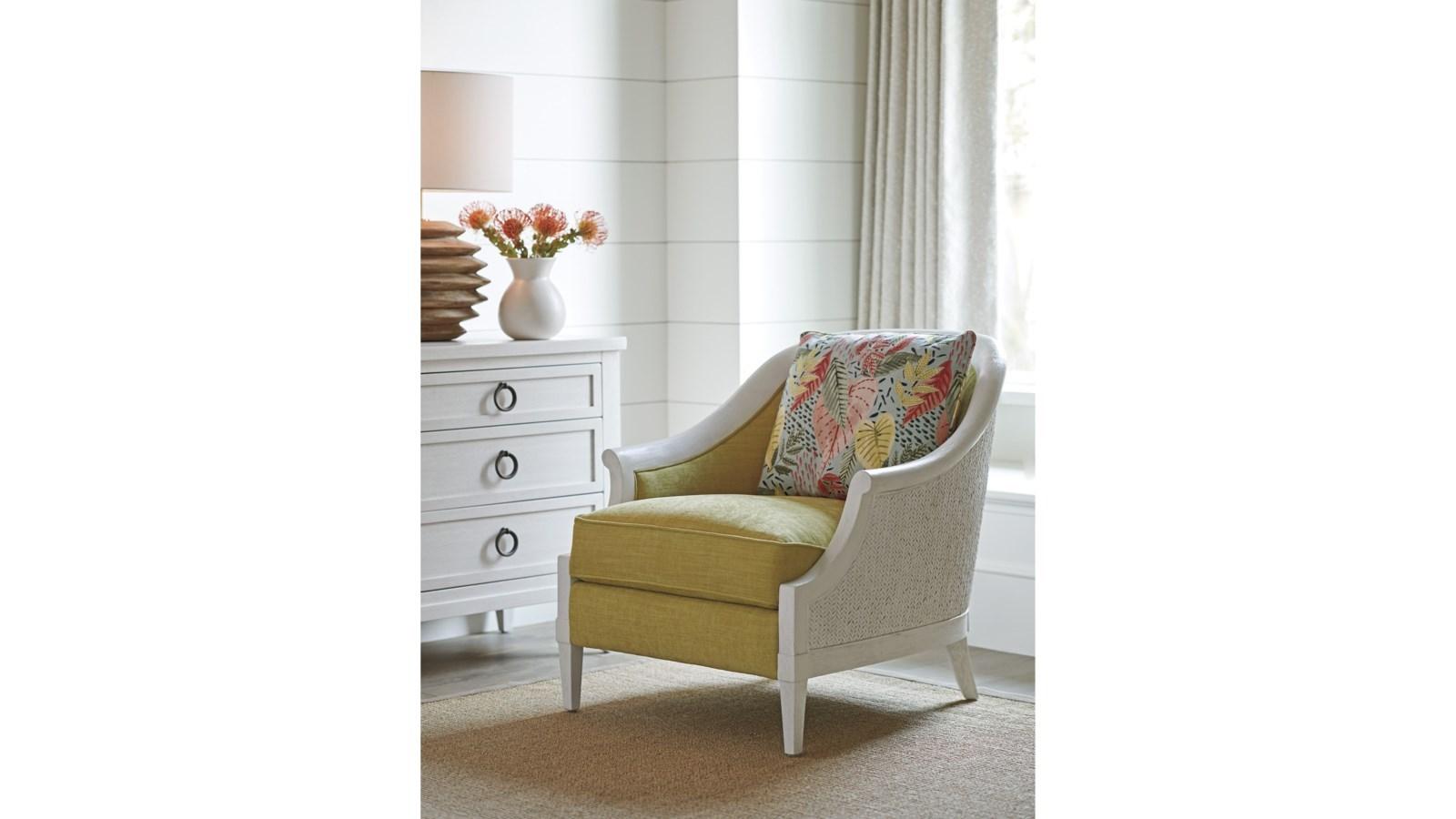 Ocean Breeze Westbank Upholstered Wicker Chair