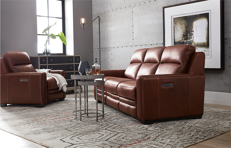 Lincoln Transitional Leather Power Reclining Sofa