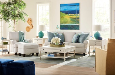 white sofa and chair in living room