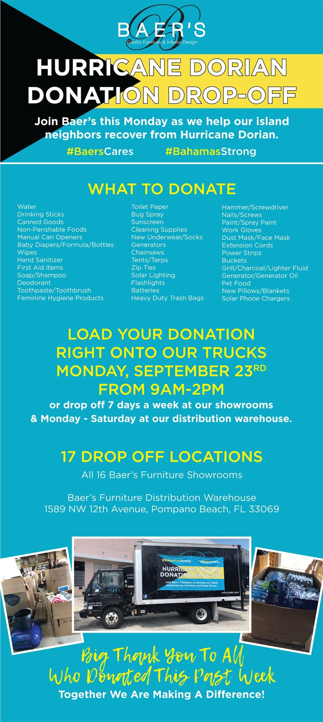 Hurricane Dorian Relief Donations