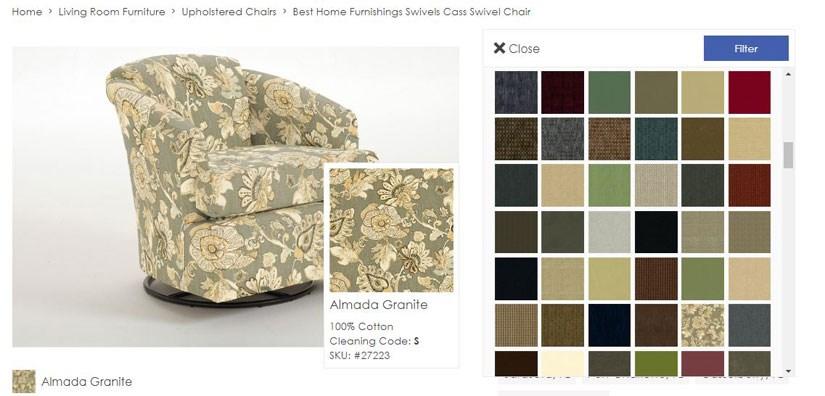 Custom Furniture Fabric Options Example