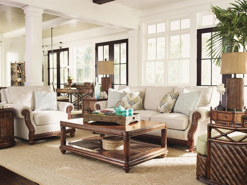 florida inspired living room group