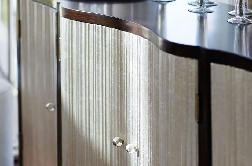 Dining Buffet with Silver Sand Finished Doors