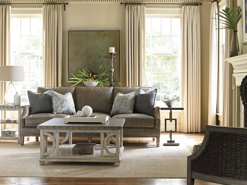 Brown Leather Living Room Group