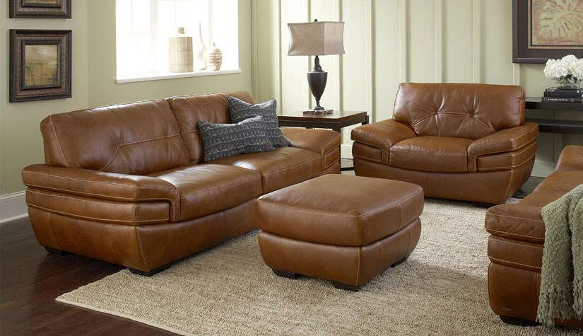 Interior Design to Highlight Your High-End Leather Sofa ...