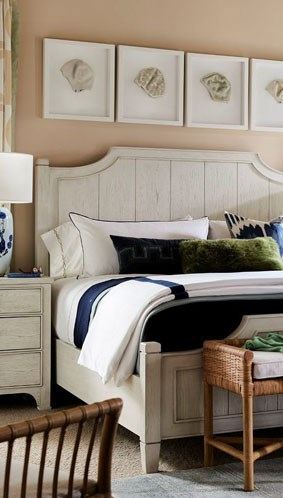 White coastal bedroom set