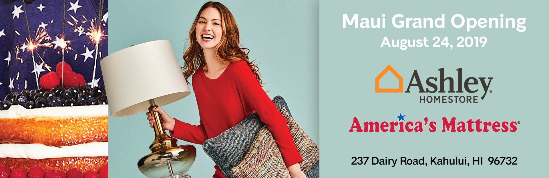 Ashley HomeStore and America's Mattress Grand Opening August 24 2019