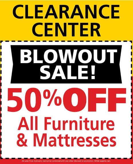 Blowout sale; see store for details