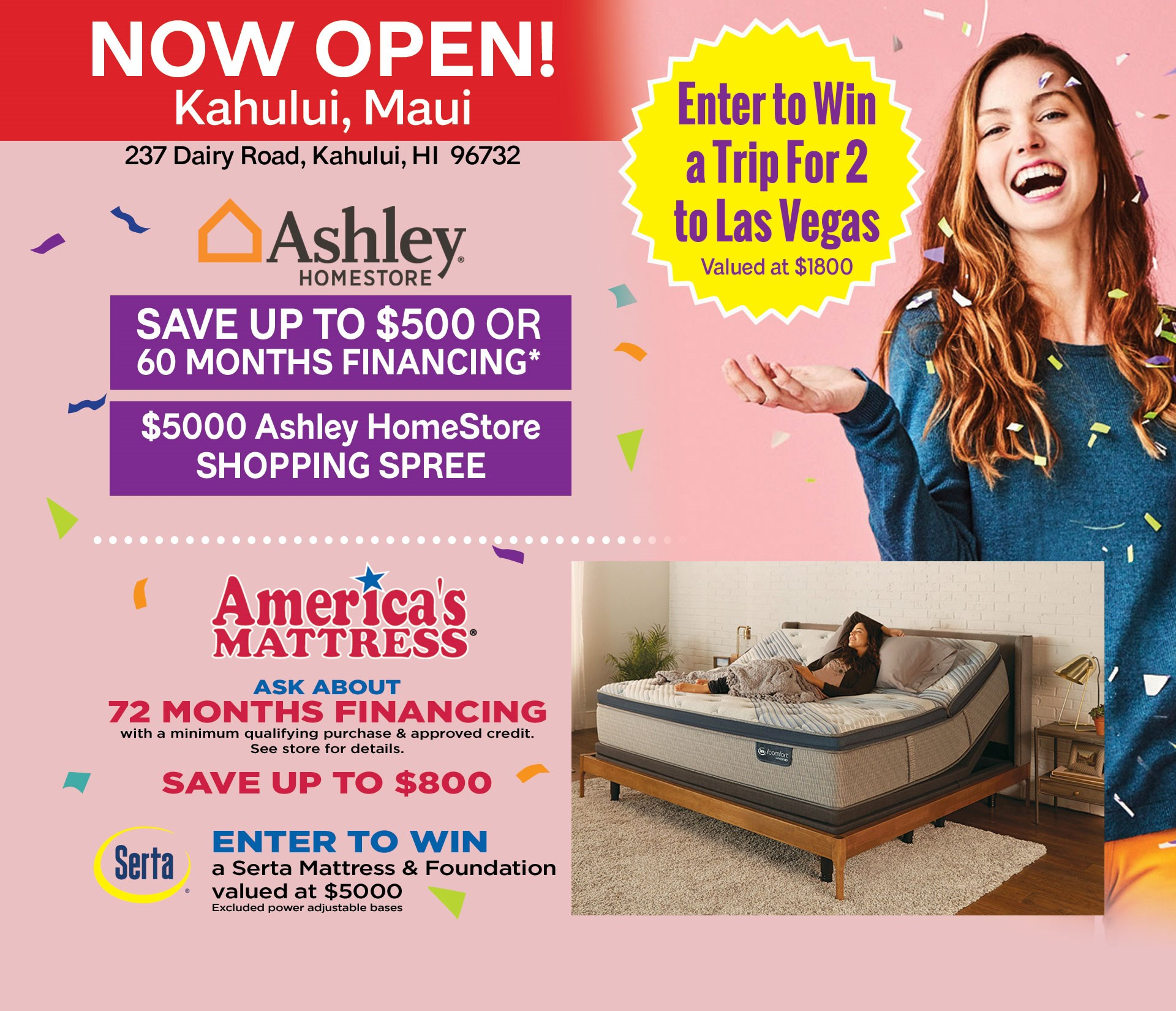 Ashley and America's Mattress Maui Now Open