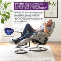 Save $500 on signature base & LegComfort recliners, or take home a free accessory. See store for details.