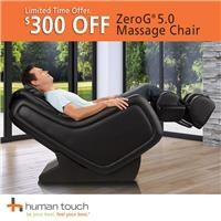 $300 off ZeroG 5.0 massage chair; see store for details.