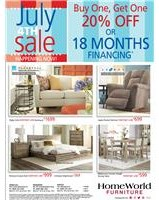 Buy one get one 20% off or ask about 18 months financing; use code JULY4. See store for details.