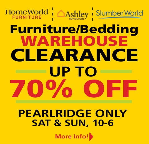 Clearance sale. See store for details.