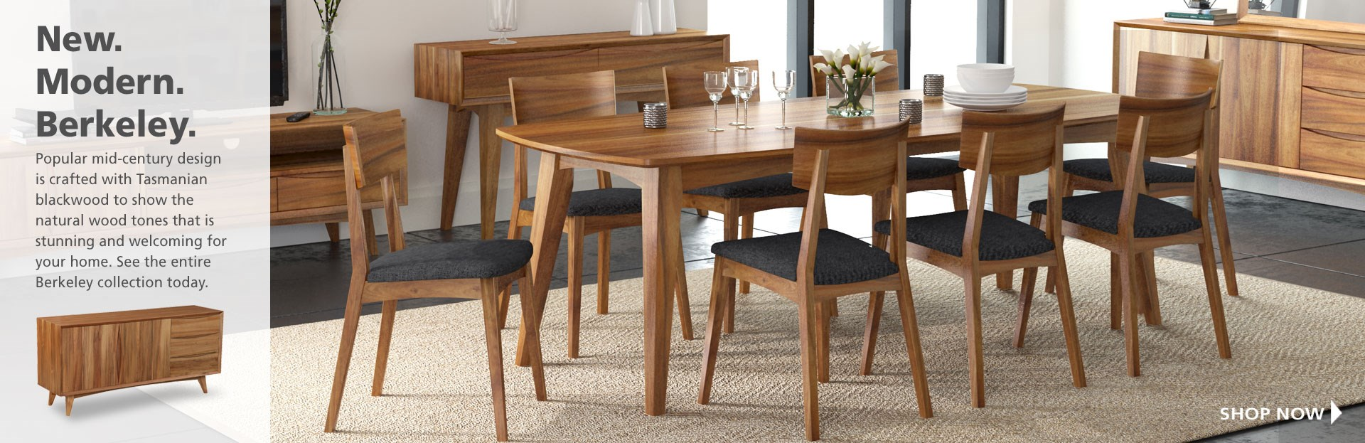 Berkeley dining table and chairs