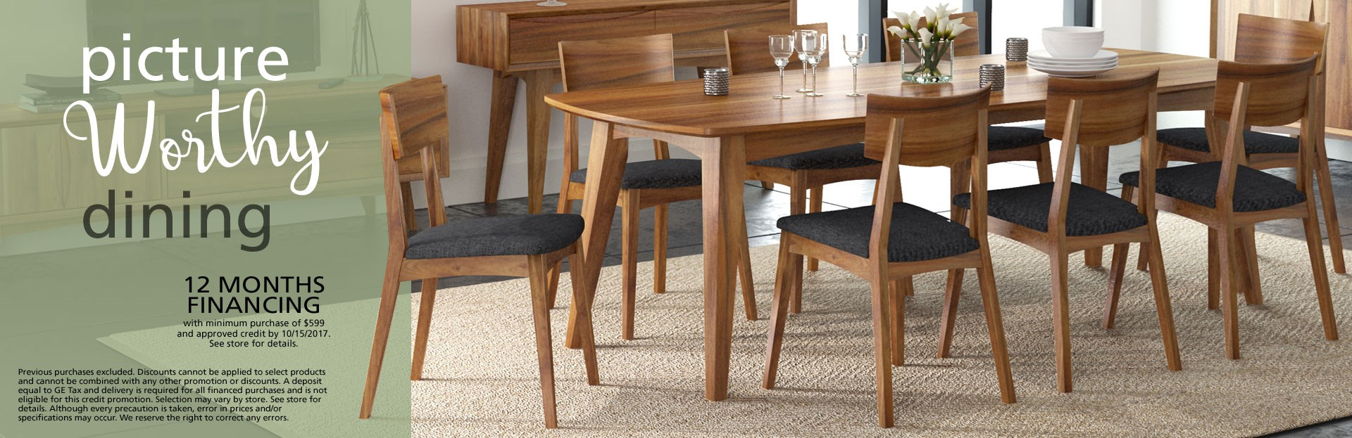 Dining feature; special financing available. See store for details.