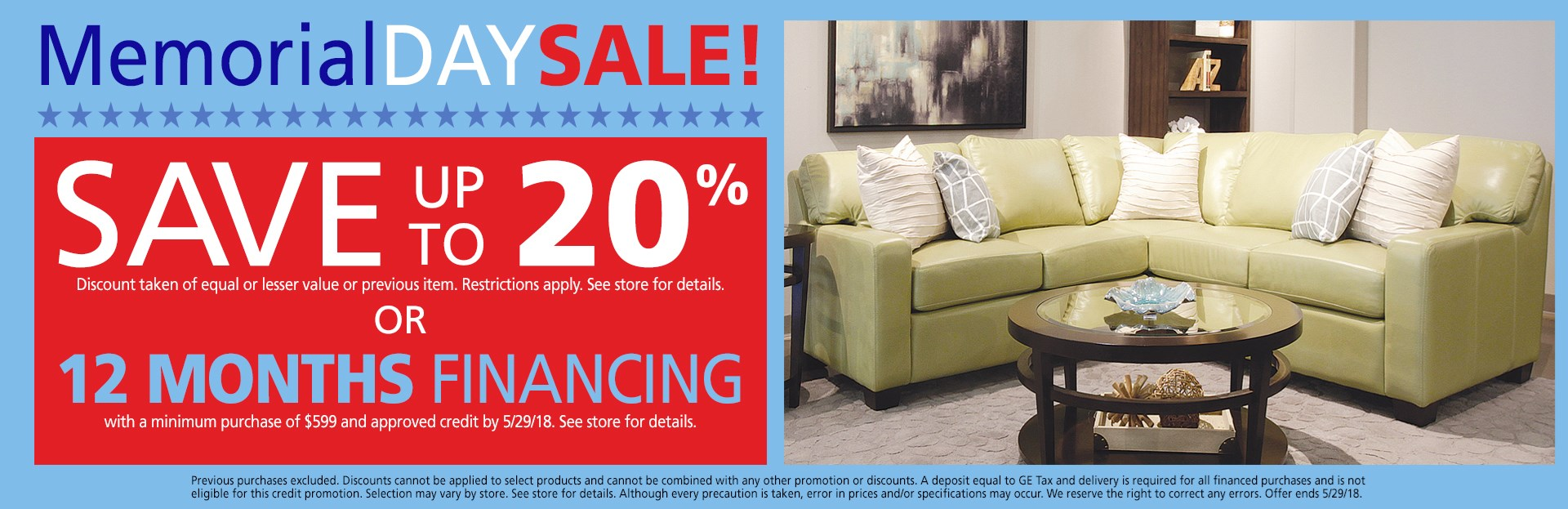 Save up to 20% or 12 months financing; see store for details.