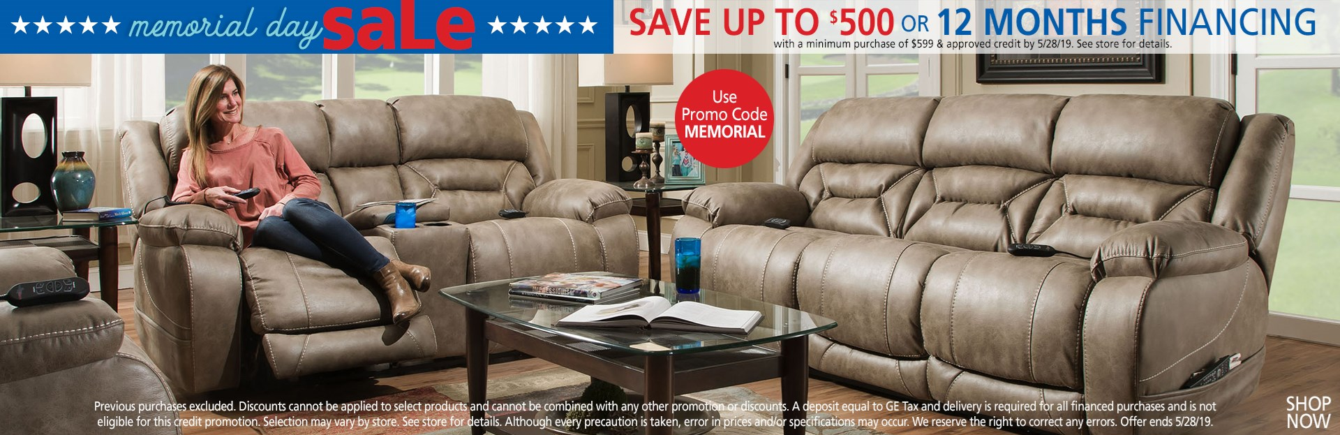Save up to $500 or ask about 12 months financing; use promo code MEMORIAL. See store for details.
