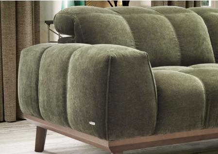 Natuzzi Editions Grey Fabric Sofa