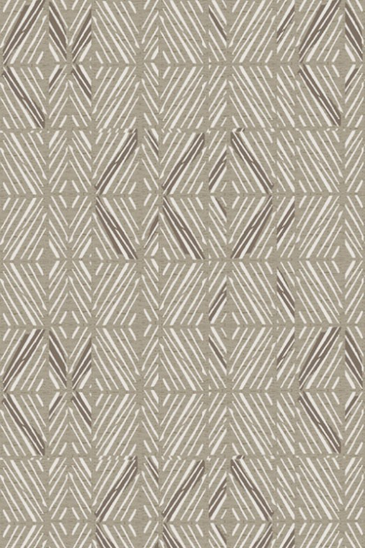 Rectangle Rug with a wavy or diamond pattern in grey and white colours