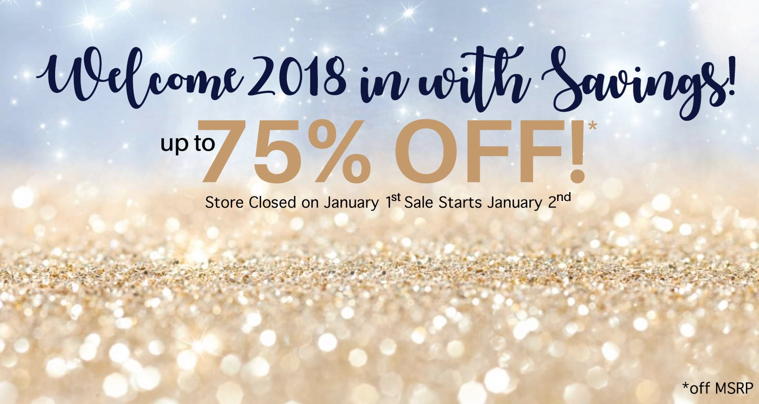 New Year Clearance 2018