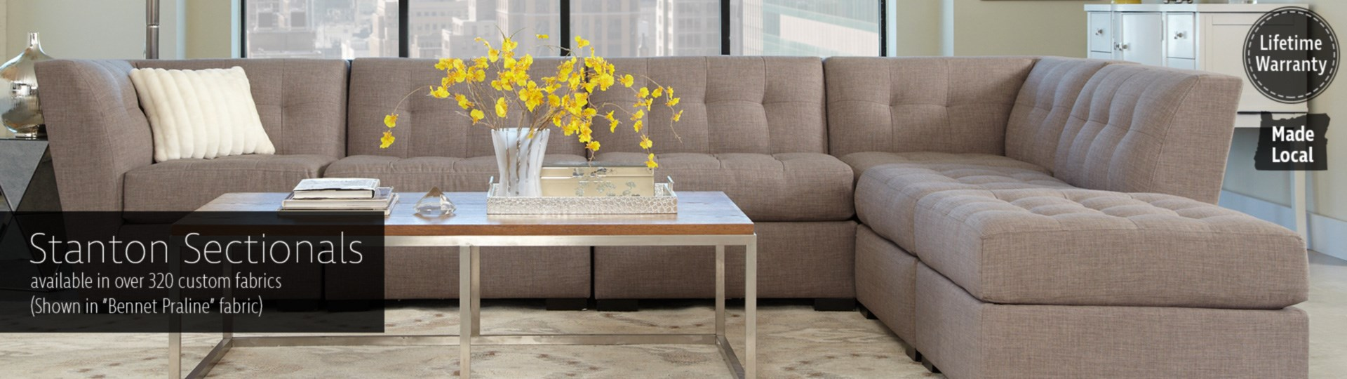 Stanton 356 sectional available in 320 custom fabrics