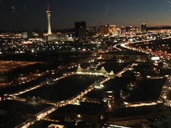 city lights of las vegas