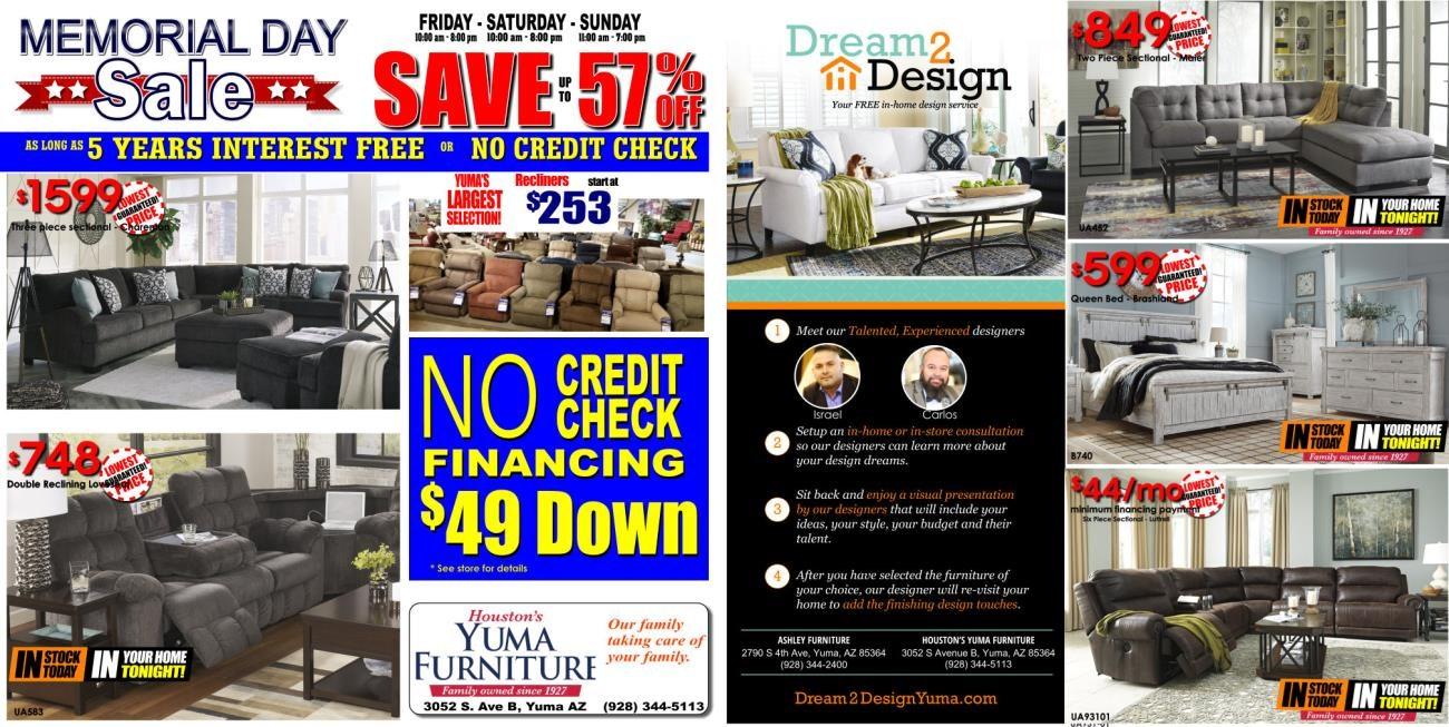 Memorial Day 2020 Ad Yuma Furniture