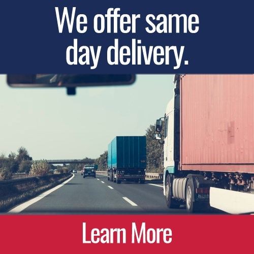 We offer same day delivery.