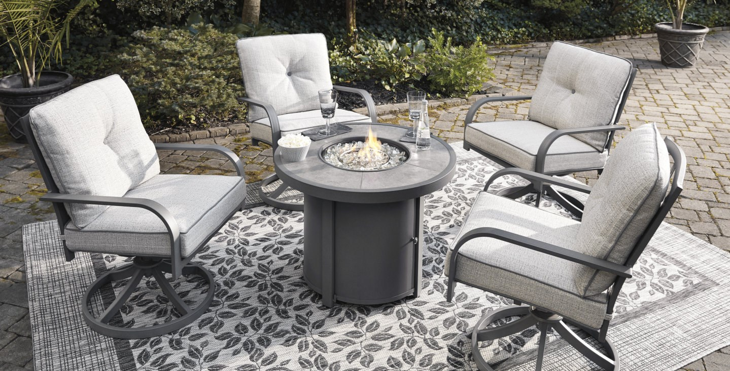 outdoor fire pit table chairs