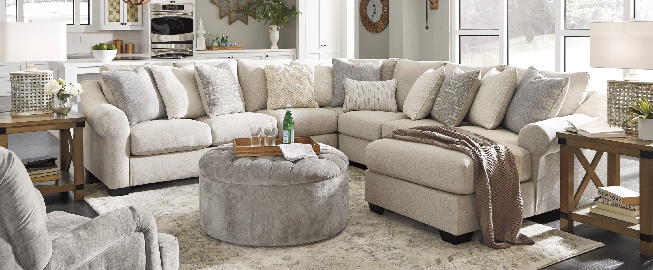 sofa sectional beige upholstery