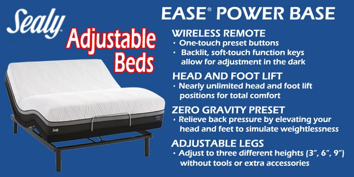 Ask Us About Our Many Adjule Bed Options