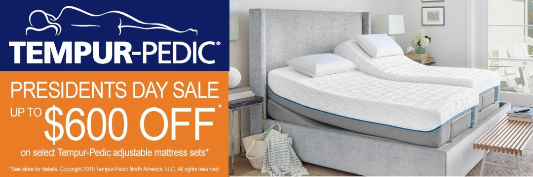 Save up to $600 on Tempur-Pedic adjustable mattress sets