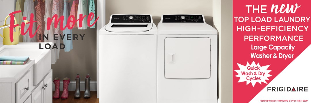 The New top load laundry High efficiency performance washer & dryer