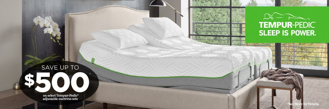 Save up to $500 on Tempur-Pedic adjustable mattress sets