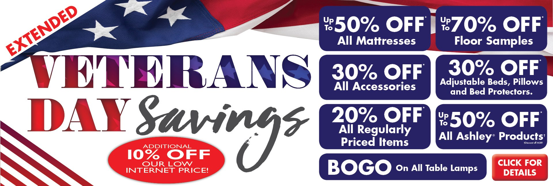 Veteran's Day Sale Extended