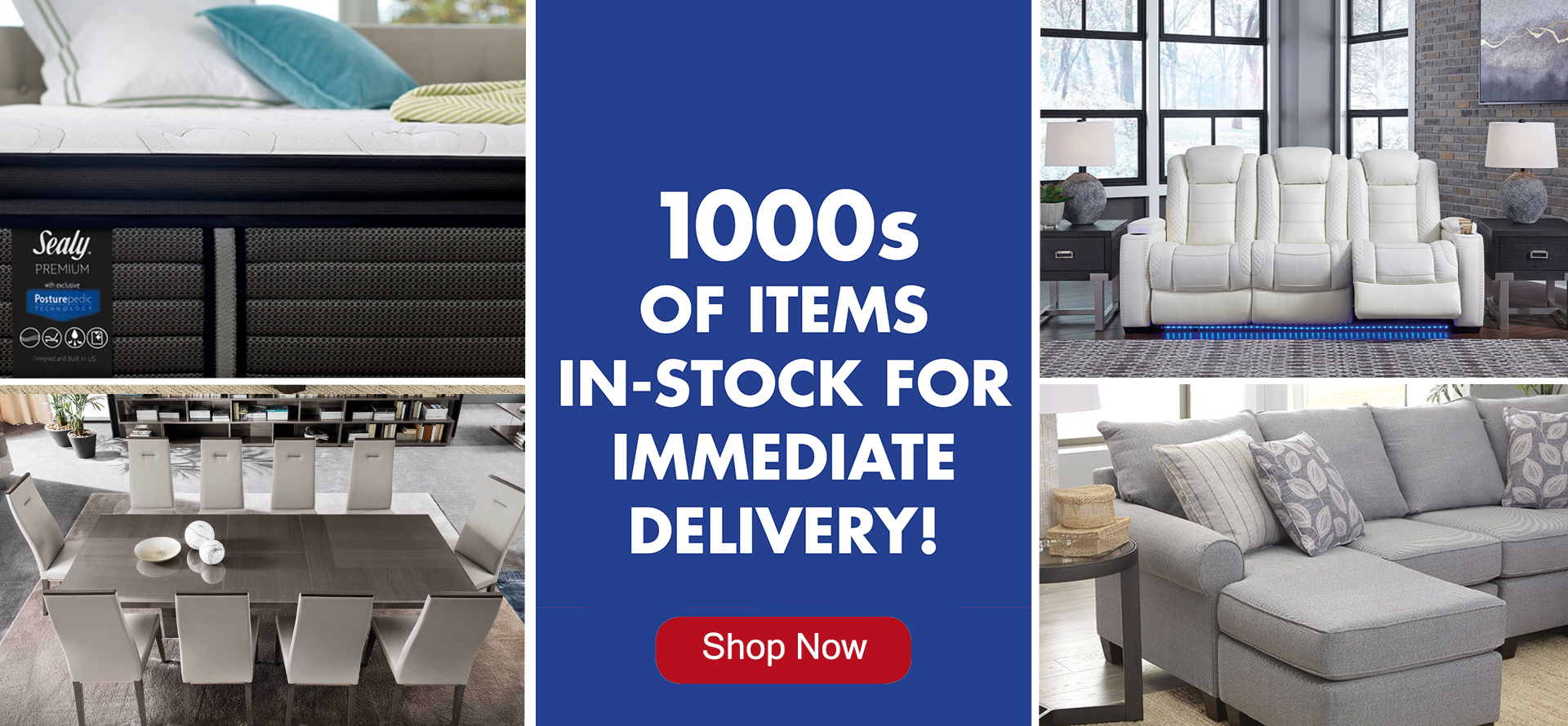 1000's of items in-stock