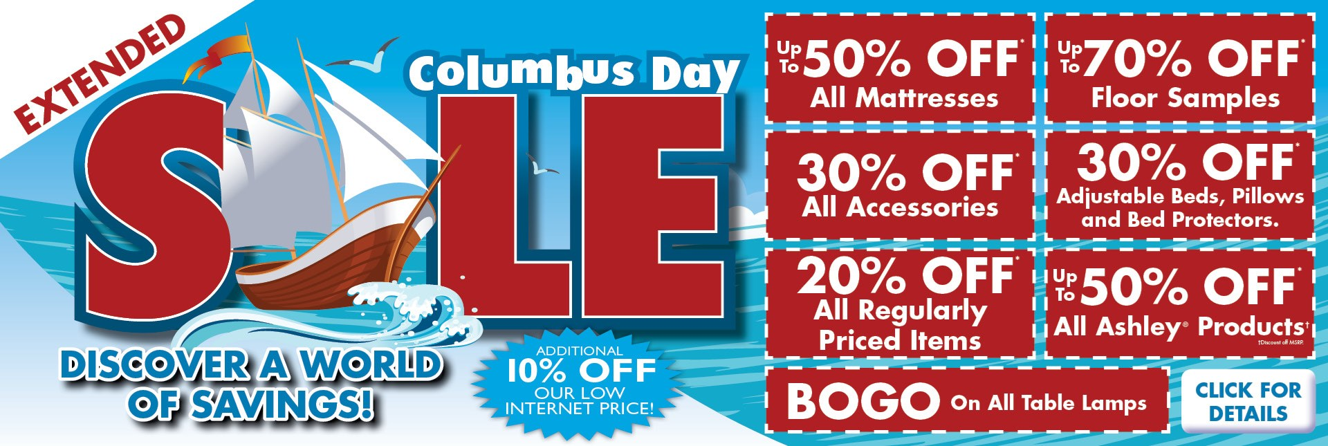 Columbus Day Extended Deals