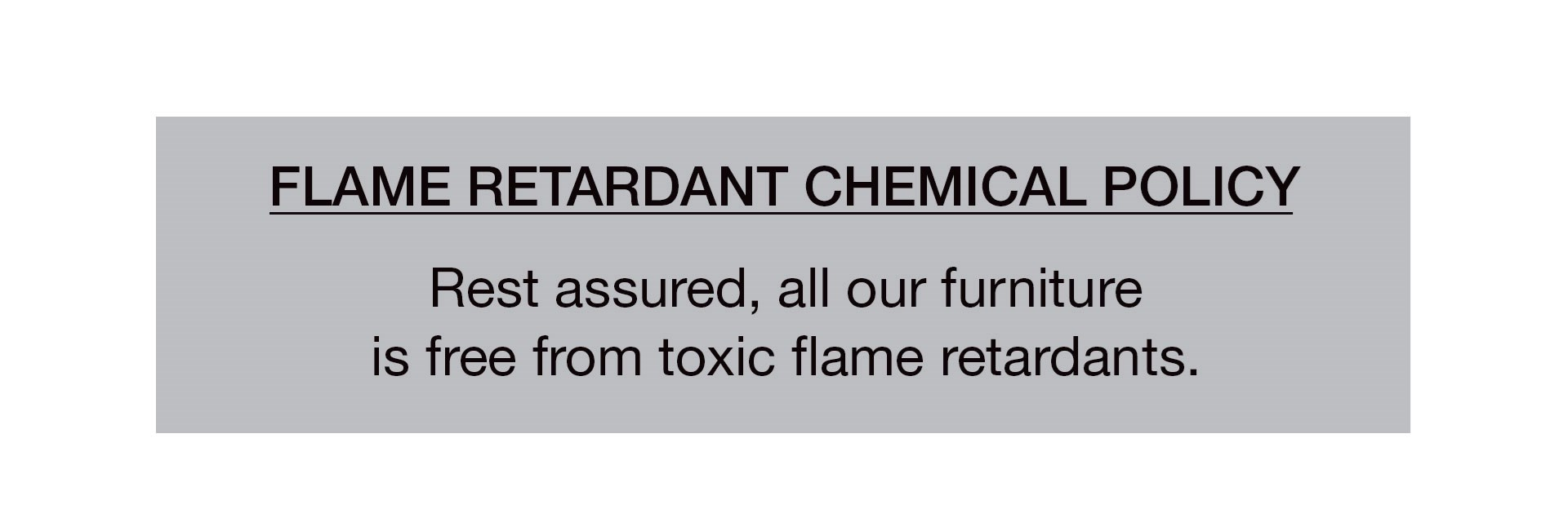 Flame Retardant Chemical Policy