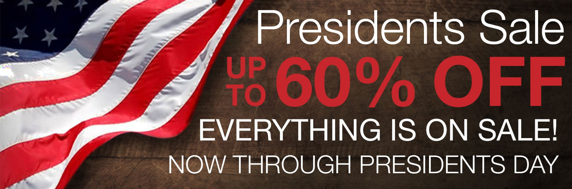 Williams and Kay Presidents Sale