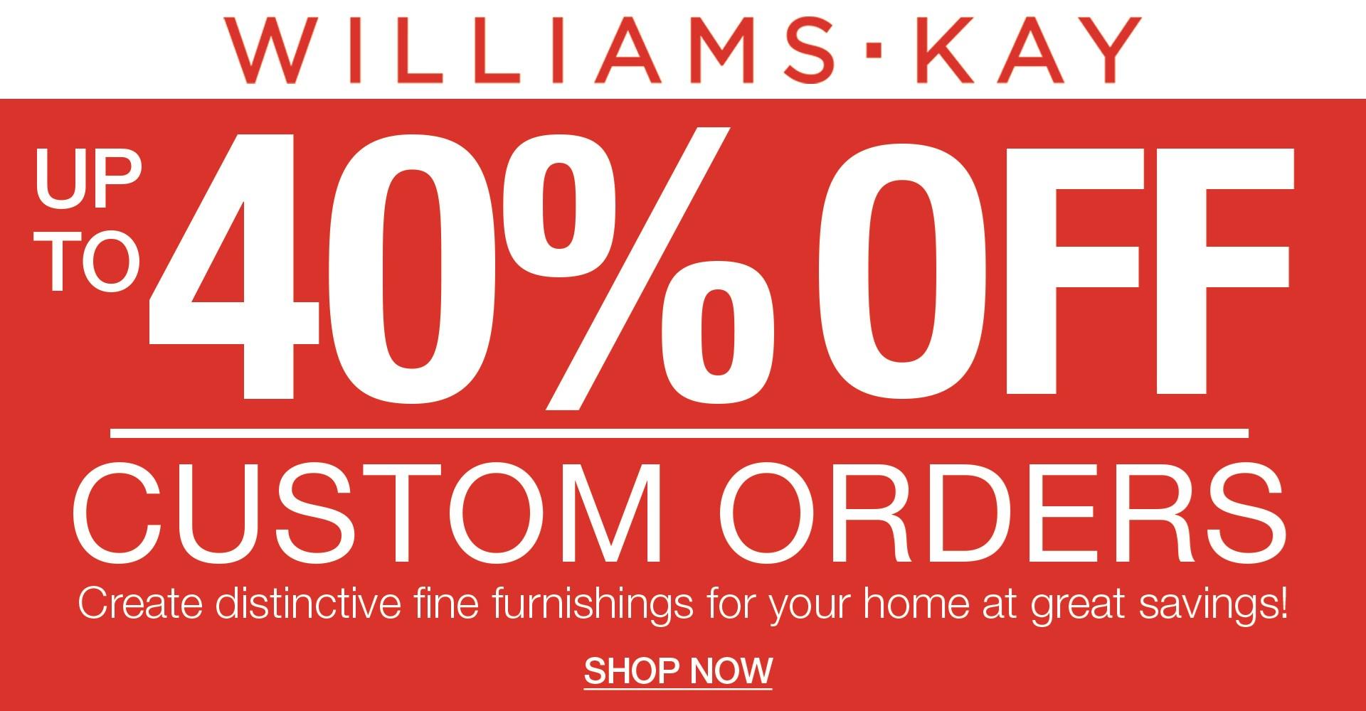 Custom Order Sale