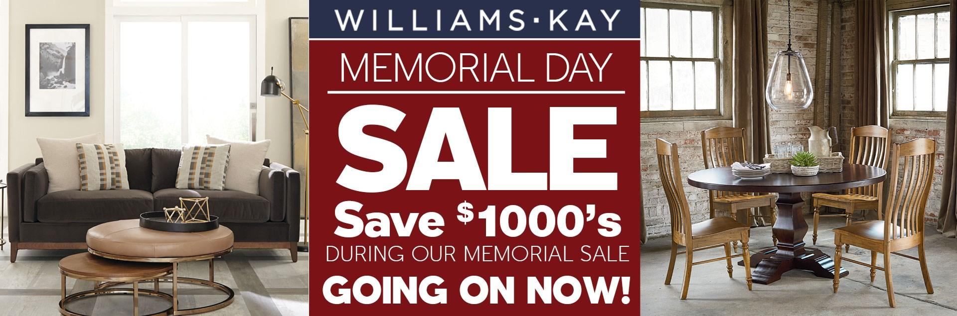 Williams & Kay Memorial Sale